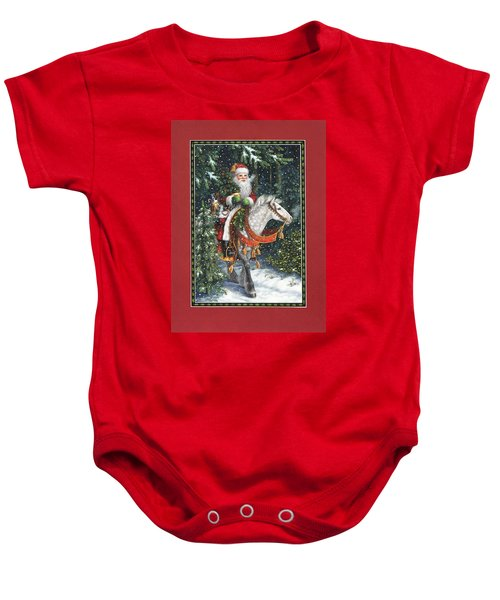 Santa Of The Northern Forest Baby Onesie