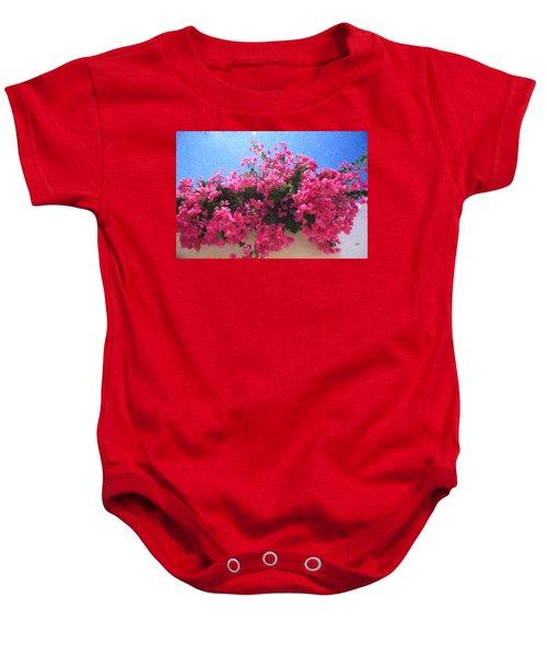 Santorini Flowers Grk1113 Baby Onesie