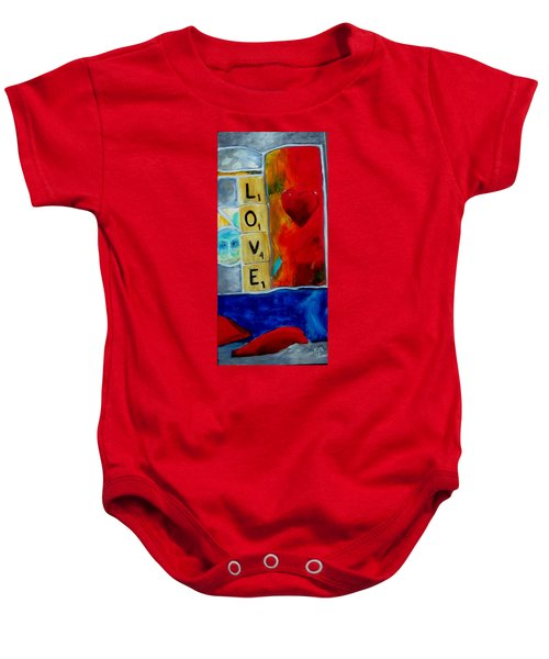 Stained Glass Love Baby Onesie