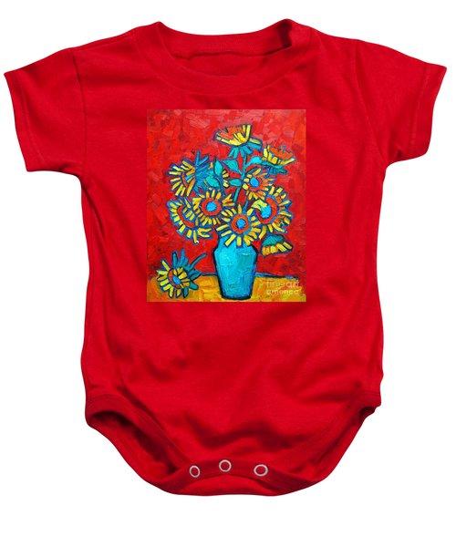 Sunflowers Bouquet Baby Onesie