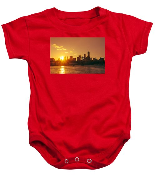 Sunset - New York City Baby Onesie