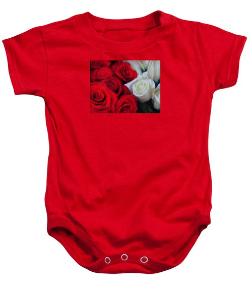 Da143 Symphony In Red And White By Daniel Adams Baby Onesie