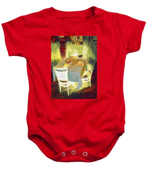 Table At The Fauve Cafe Baby Onesie