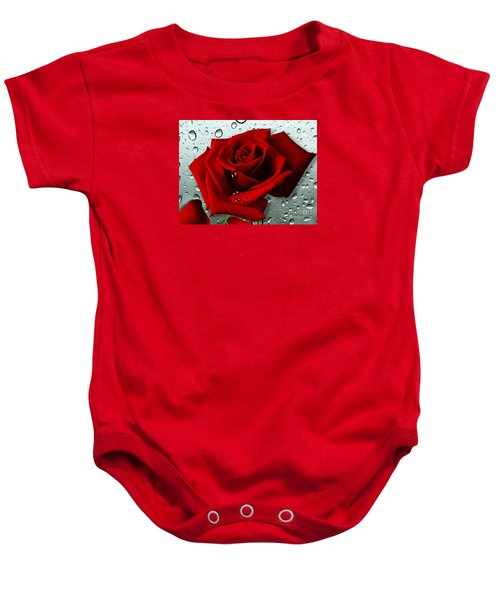 Baby Onesie featuring the mixed media Tears From My Heart by Morag Bates