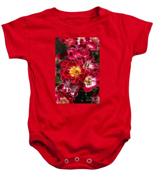 The Beauty Of Carpet Roses  Baby Onesie