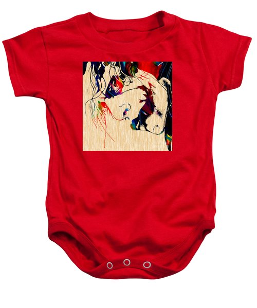 The Joker Heath Ledger Collection Baby Onesie by Marvin Blaine