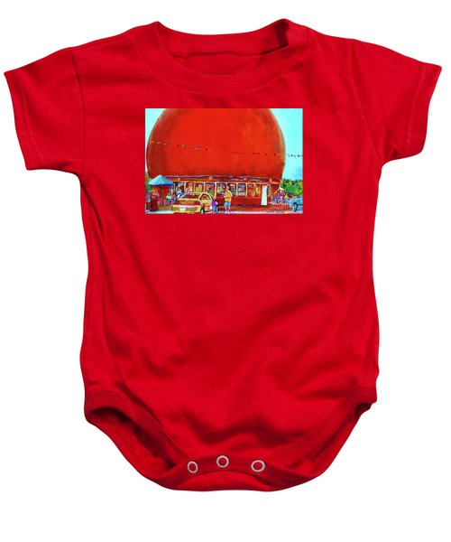 The Orange Julep Montreal Summer City Scene Baby Onesie