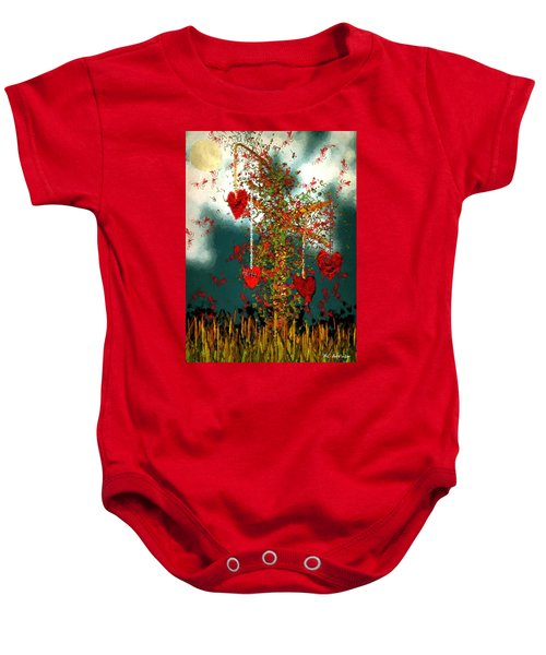 The Tree Of Hearts Baby Onesie