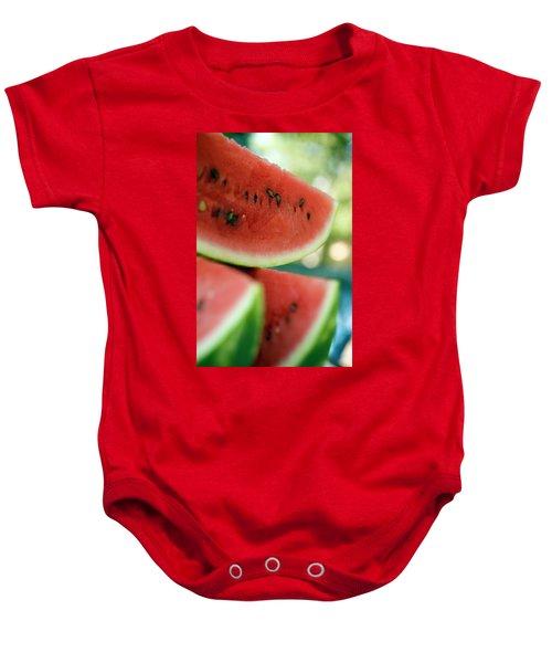 Three Slices Of Watermelon Baby Onesie