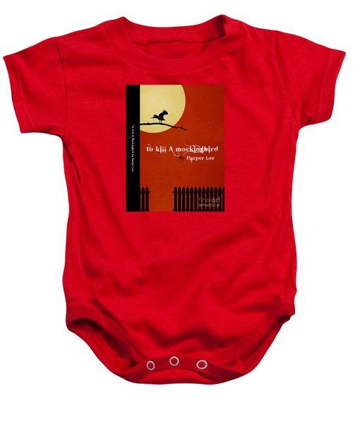 To Kill A Mockingbird Book Cover Movie Poster Art 1 Baby Onesie