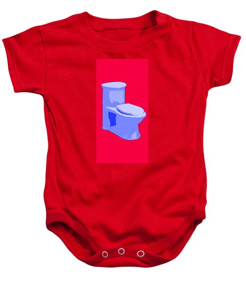 Toilette In Blue Baby Onesie