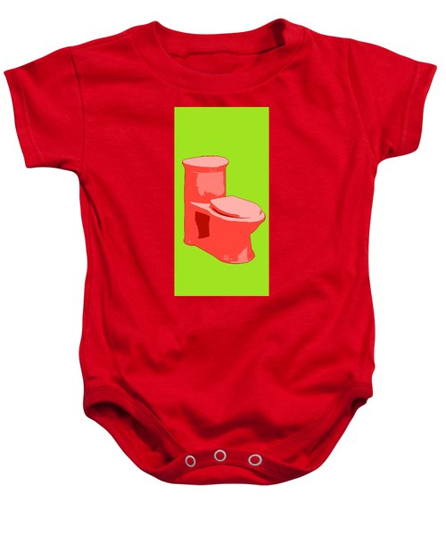 Toilette In Red Baby Onesie