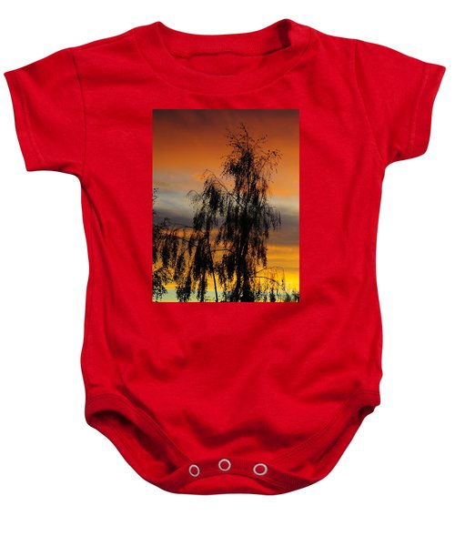 Trees In The Sunset Baby Onesie