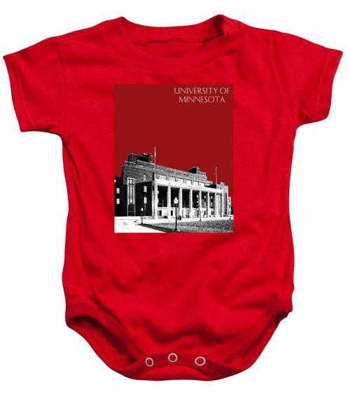 University Of Minnesota - Coffman Union - Dark Red Baby Onesie