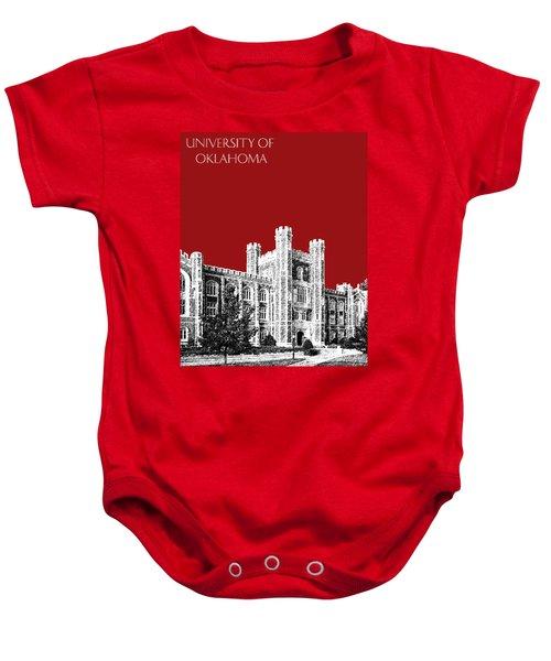 University Of Oklahoma - Dark Red Baby Onesie