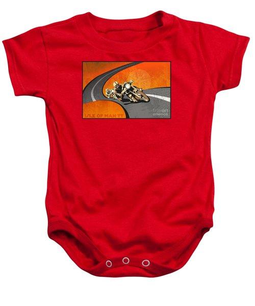 Vintage Motor Racing  Baby Onesie
