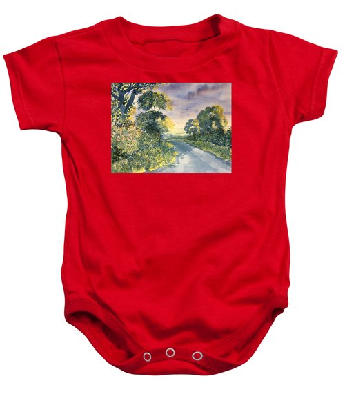 Wild Roses On The Wolds Baby Onesie