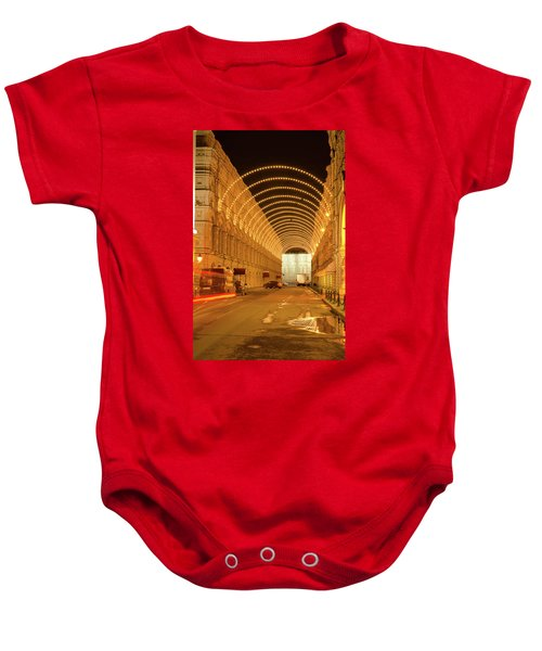 Red Square In Moscow At Night Baby Onesie