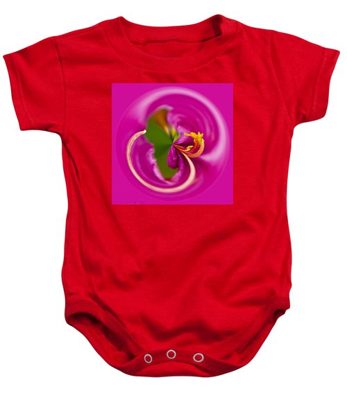 Baby Onesie featuring the photograph Asiatic Lily Orb by Bill Barber