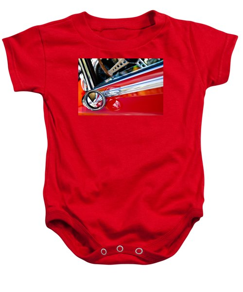Baby Onesie featuring the photograph Classic Red Car Artwork by Shane Kelly