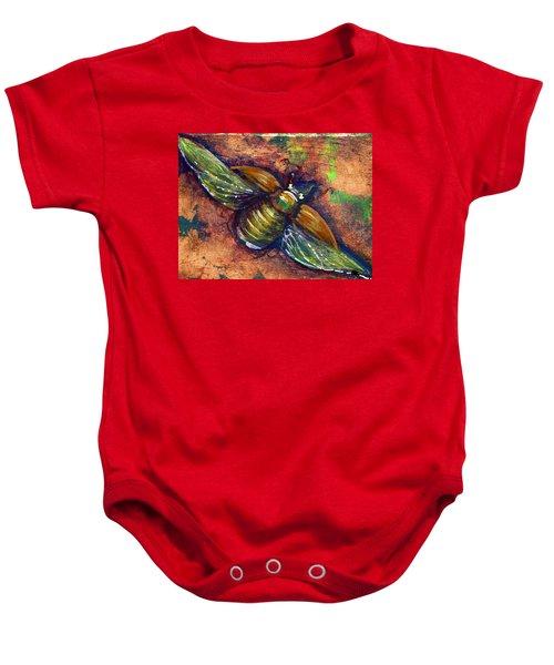 Copper Beetle Baby Onesie