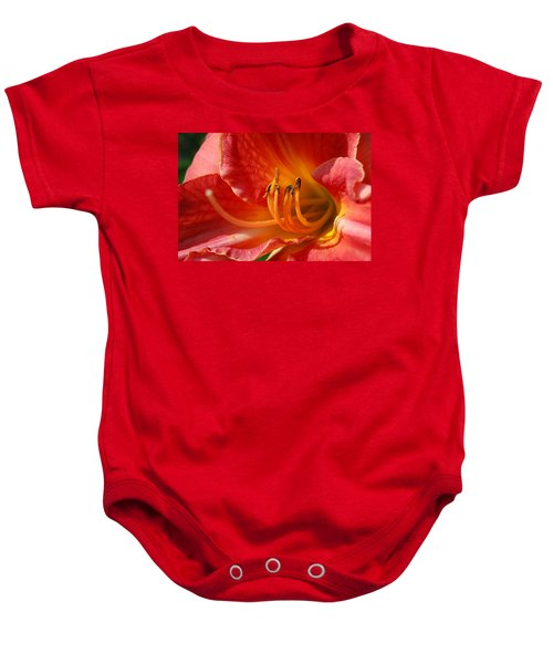 Daylilly Close Up Baby Onesie