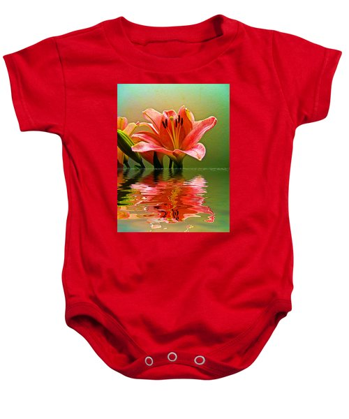Flooded Lily Baby Onesie by Bill Barber