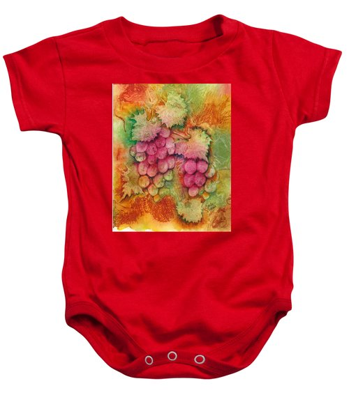 Grapes With Rust Background Baby Onesie