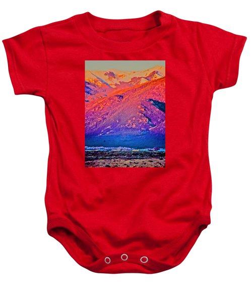 Mt Wheeler At Sunset Baby Onesie