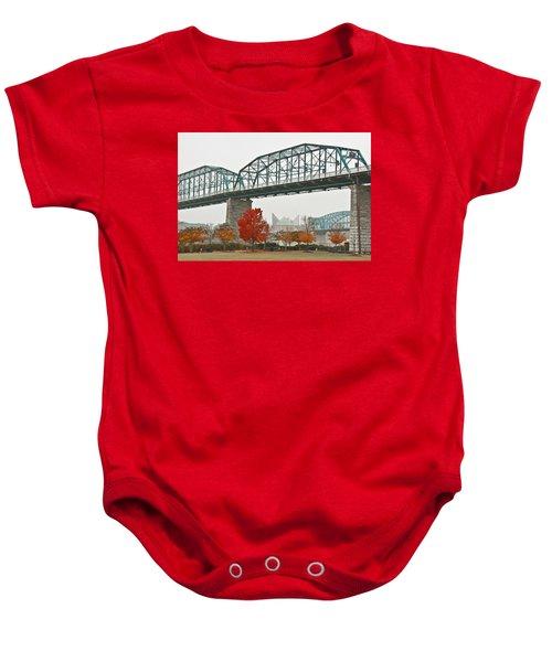 Walnut Street Bridge Baby Onesie