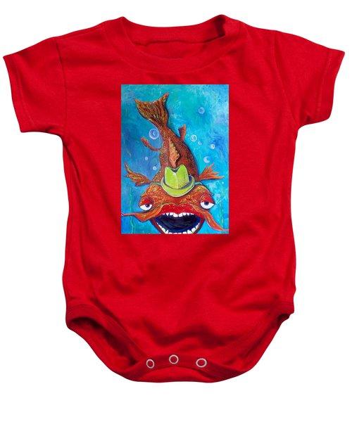 Catfish Clyde Baby Onesie by Vickie Scarlett-Fisher