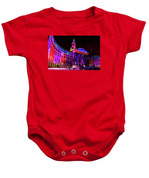 Denver City And County Building Holiday Lights Baby Onesie