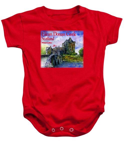 Eilean Donan Castle Scotland Baby Onesie