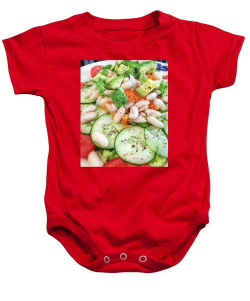 Freshly Made Salad Baby Onesie by Tom Gowanlock