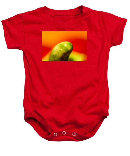 Green Red Liquid Clay Baby Onesie