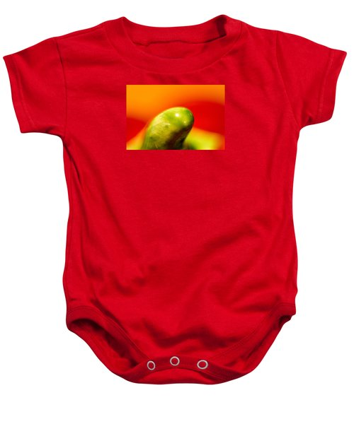 Green Red Liquid Clay Baby Onesie