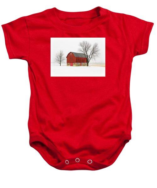 Little Red Barn Baby Onesie
