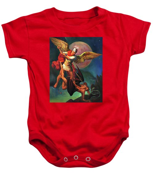 Saint Michael The Warrior Archangel Baby Onesie