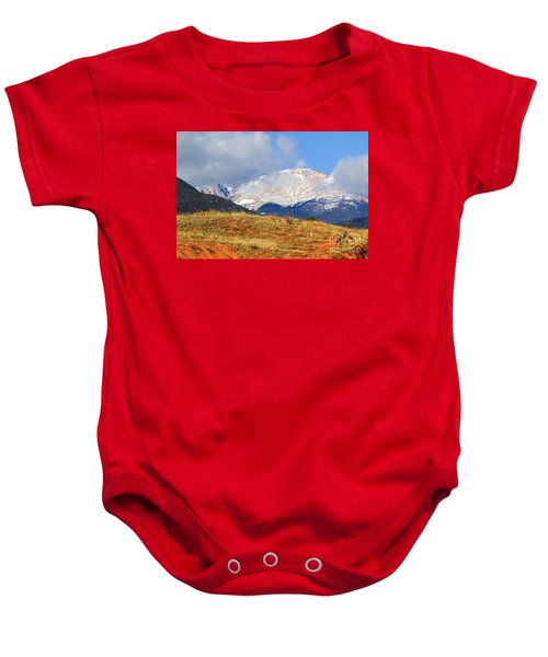 Snow Capped Pikes Peak Colorado Baby Onesie