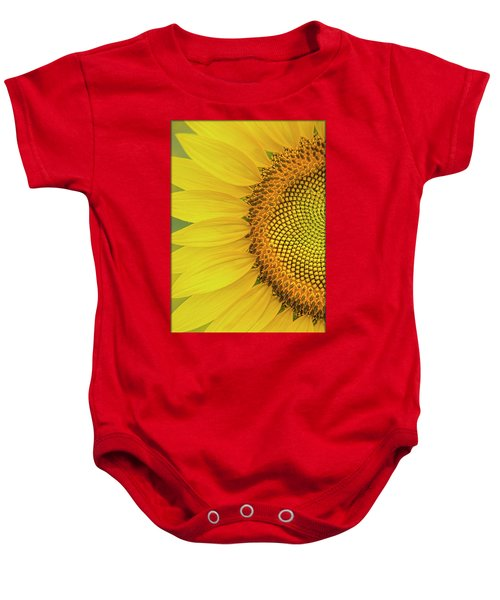Sunflower Petals Baby Onesie