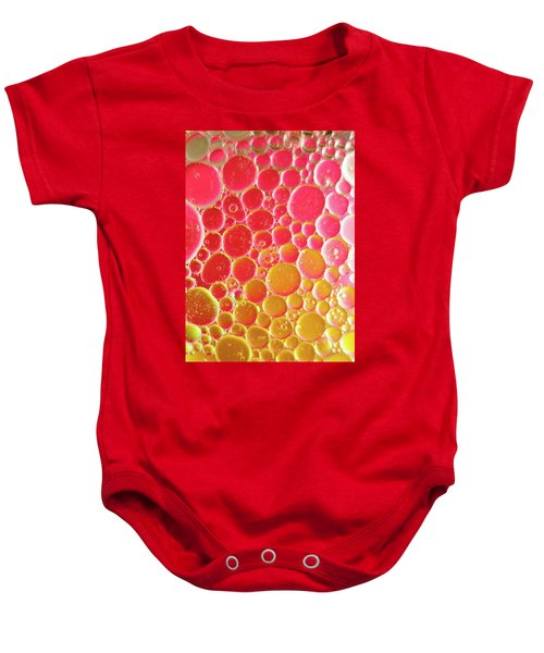 Water And Oil Bubbles Baby Onesie