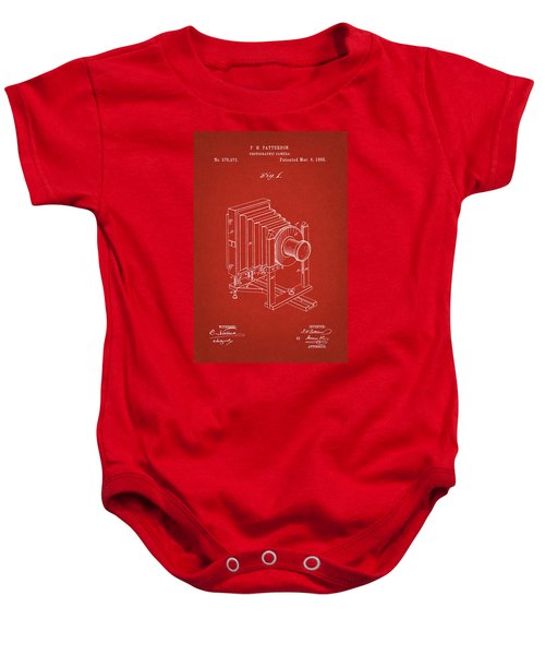 1888 Camera Us Patent Invention Drawing - Red Baby Onesie