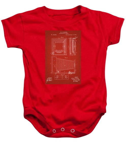 1891 Camera Us Patent Invention Drawing - Red Baby Onesie