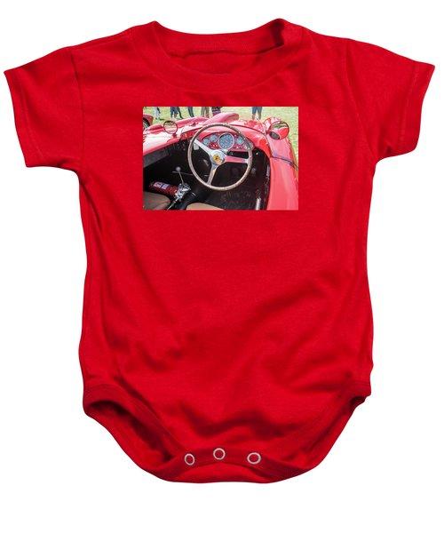 Baby Onesie featuring the photograph 1956 Ferrari 290mm - 4 by Randy Scherkenbach