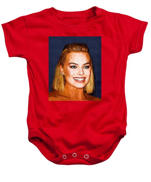 Margot Robbie Art Baby Onesie