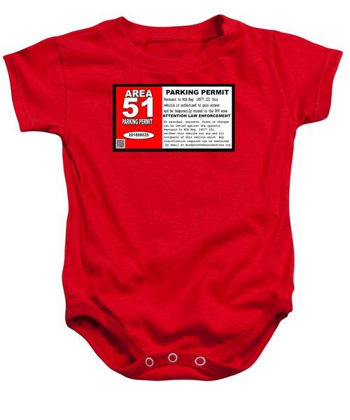 2018 Area 51 Parking Permit Baby Onesie
