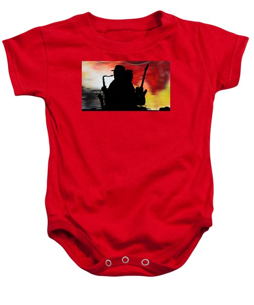 Bruce Springsteen Clarence Clemons Baby Onesie by Marvin Blaine