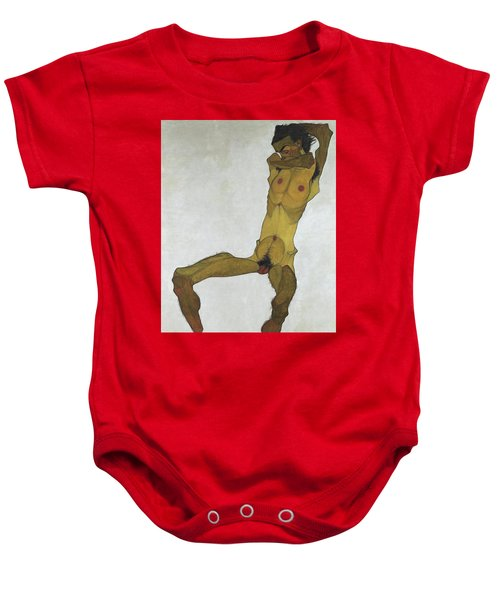 Seated Male Nude Baby Onesie