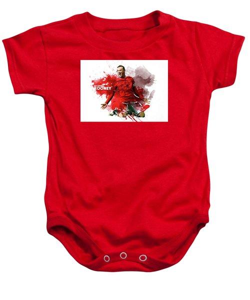 Wayne Rooney Baby Onesie by Semih Yurdabak