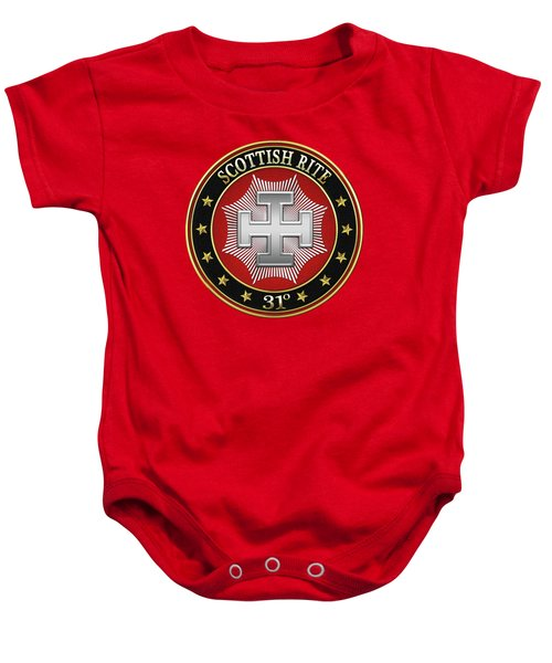 31st Degree - Inspector Inquisitor Jewel On Red Leather Baby Onesie